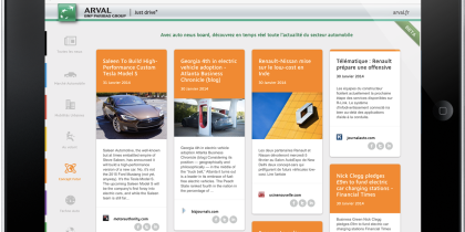 Arval Auto News board Curation Automatisée